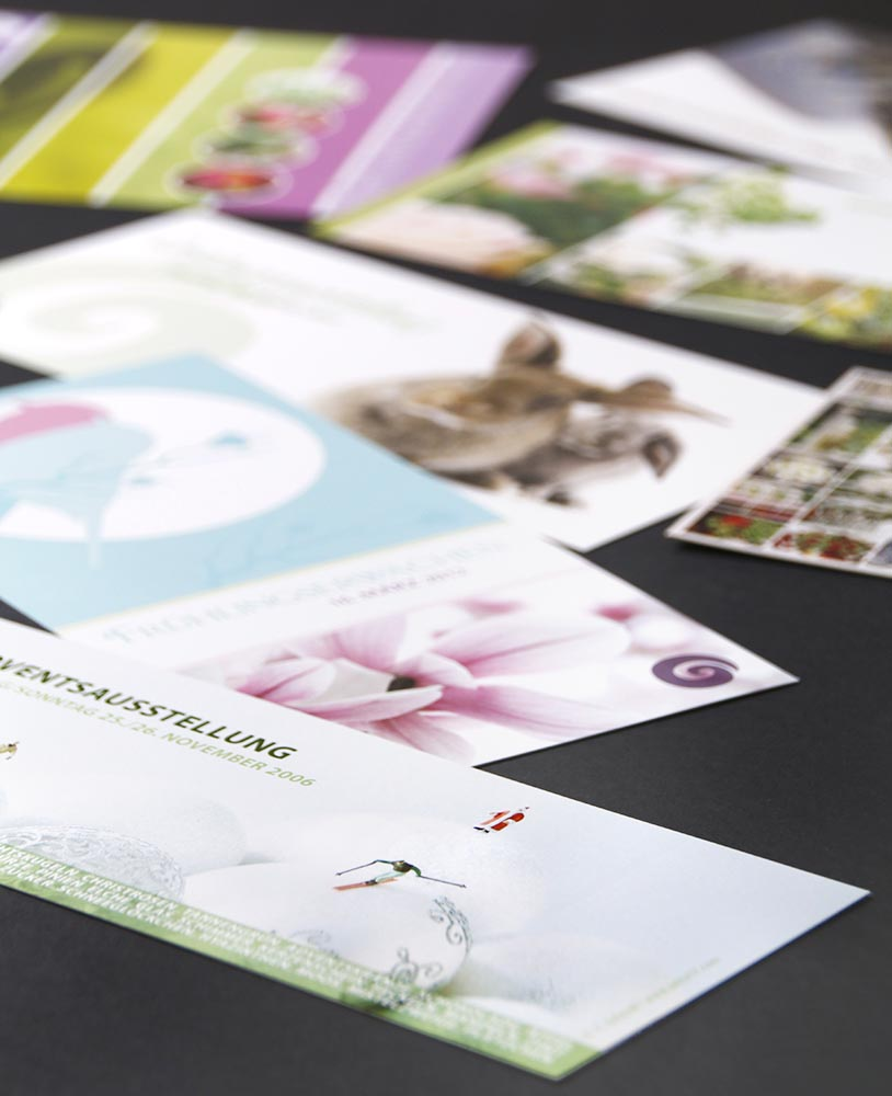 Einladungskarten diverse Floristik-Events