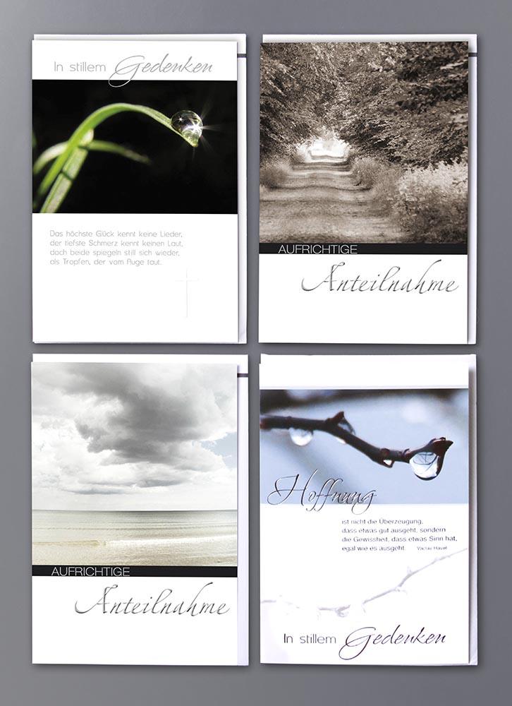 Fotos+Gestaltung Grusskarten Trauer